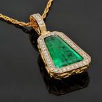 Sergei Kamenskikh via Dreamstime_xs_78932905 YG Emerald Pendant